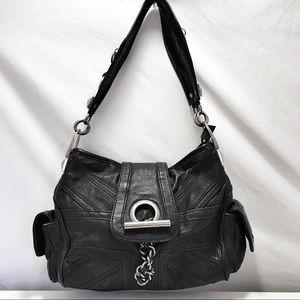 Vintage Betsey Johnson Studded Moto Style Bag